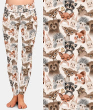 Load image into Gallery viewer, Ladies Cute Woodland Animals Printed Leggings