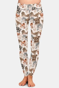 Ladies Cute Woodland Animals Printed Leggings