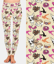 Load image into Gallery viewer, Ladies 3D Dogs and Fashion Items Printed Leggings