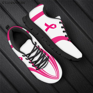 New Fashion Womens Breast Cancer Design Shoes