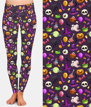 Load image into Gallery viewer, Ladies New Arrival 3D Cartoon Halloween Printed Leggings