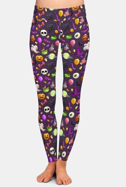 Ladies New Arrival 3D Cartoon Halloween Printed Leggings