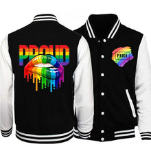 Load image into Gallery viewer, LGBT Rainbow Proud Casual Baseball Jacket
