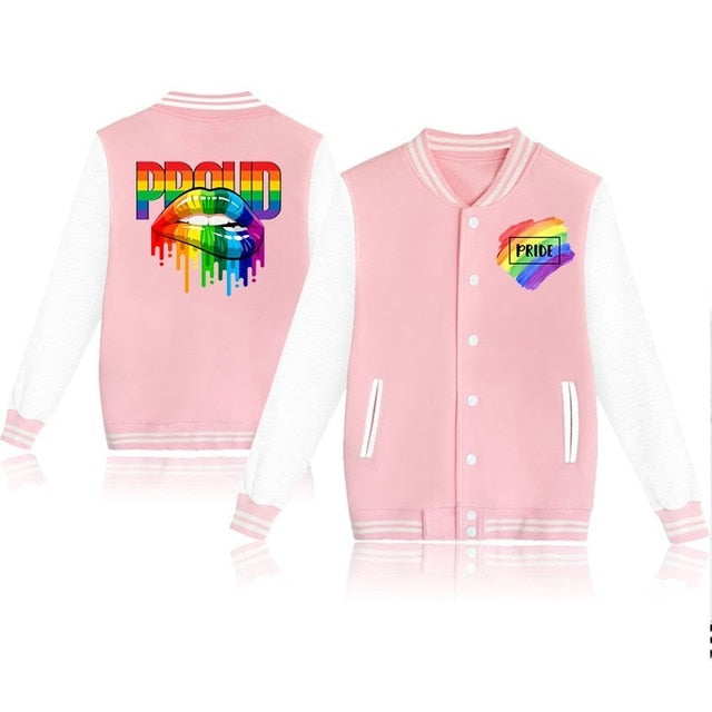 LGBT Rainbow Proud Casual Baseball Jacket