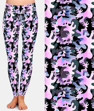 Load image into Gallery viewer, Ladies 3D Pink Camouflage Printed Leggings