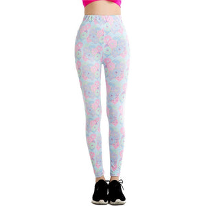 Womens 3D Fun Printed Leggings