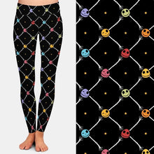 Load image into Gallery viewer, Ladies 3D Colourful Heads and Boney Hands Printed Leggings