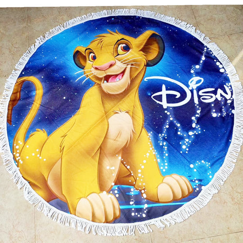 Round Disney Microfiber Beach Towels With Tassels