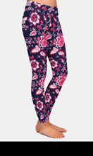 Load image into Gallery viewer, Ladies Beautiful Flowers Design Printed Leggings