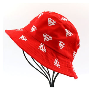 Kids Superman Printed Bucket Hats