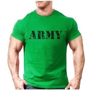 New ARMY Fashion Logo Printed Mens T-shirt