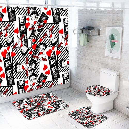 3D Betty Boop Waterproof Bathroom Set With Free Hooks