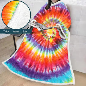 Hippie Long Sleeve Assorted Sherpa Fleece Wearable Sofa Blankets