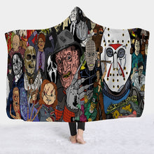 Load image into Gallery viewer, AMAZING Horror Featured Fleece Wearable Hooded Blankets
