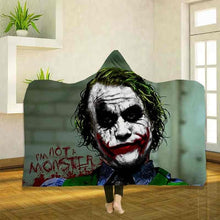 Load image into Gallery viewer, 3D Digital Printed Joker Wearable Fleece Hooded Blankets