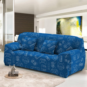 Players Gaming Slip-Resistant Stretch Sofa Covers