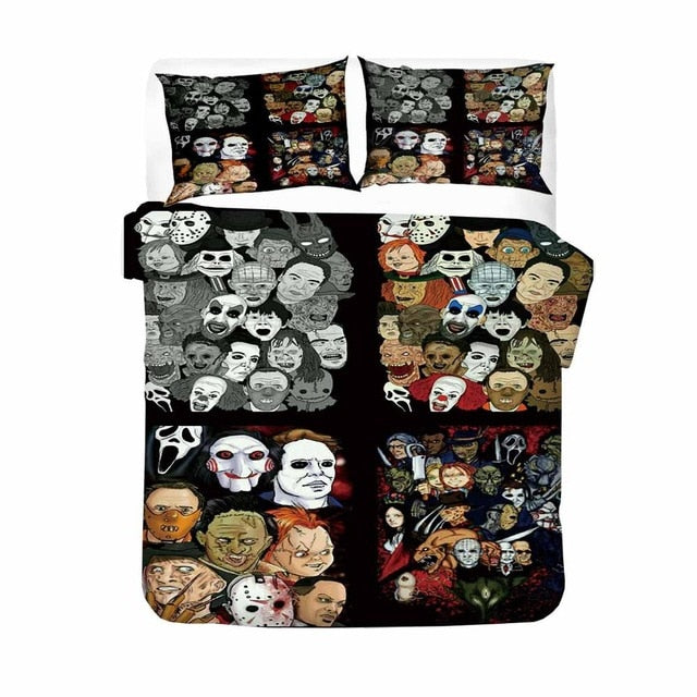 Newest Horror Movies Quilt Cover/Bedding Sets 2/3 Piece Room Decor