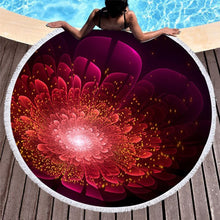 Load image into Gallery viewer, Gorgeous Floral Patterned Round Beach Towels