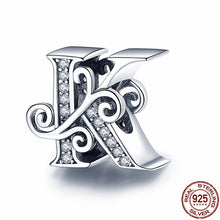 Load image into Gallery viewer, 925 Sterling Silver Letter/Alphabet A-Z Charms For Bracelet