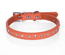 Load image into Gallery viewer, Cool Diamond Leather Look Pet Collars
