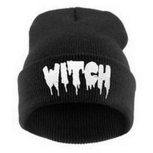 Load image into Gallery viewer, Mens/Womens Hip-Hop WITCH Embroidered Knitted Wool Beanies