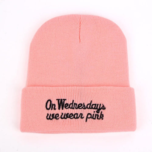 New Winter Womens Pink Beanies