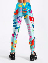 Load image into Gallery viewer, Womens Animated Leggings - Mermaid Print
