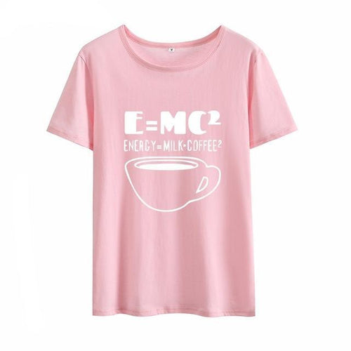 Energy=Milk+Coffee Graphic Womens Tshirt