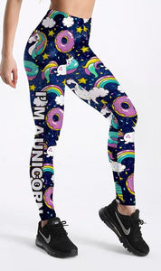 Hot Donuts & Unicorns Printed Leggings