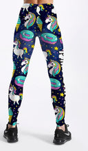 Load image into Gallery viewer, Hot Donuts & Unicorns Printed Leggings