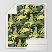 Load image into Gallery viewer, Soft & Cozy Kids Dinosaur Plush Sherpa Blanket