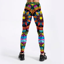 Load image into Gallery viewer, Womens Coloured Floral Mandala Leggings
