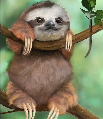 5D DIY Cute Sloth Diamond Paintings - Assorted Sizes
