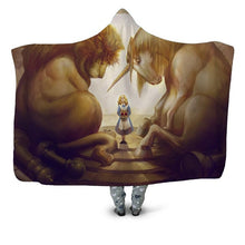 Load image into Gallery viewer, Wolf And Assorted Designed 3D Printed Plush Hooded Blankets