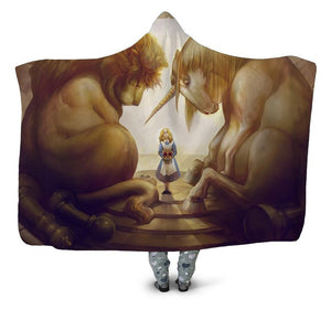 Wolf And Assorted Designed 3D Printed Plush Hooded Blankets
