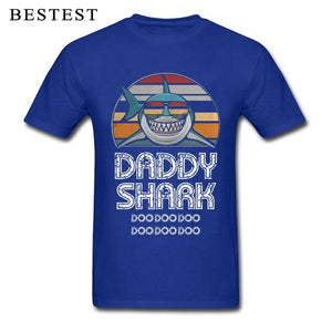 Fathers Day T-Shirt Mens Shark Printed Tee