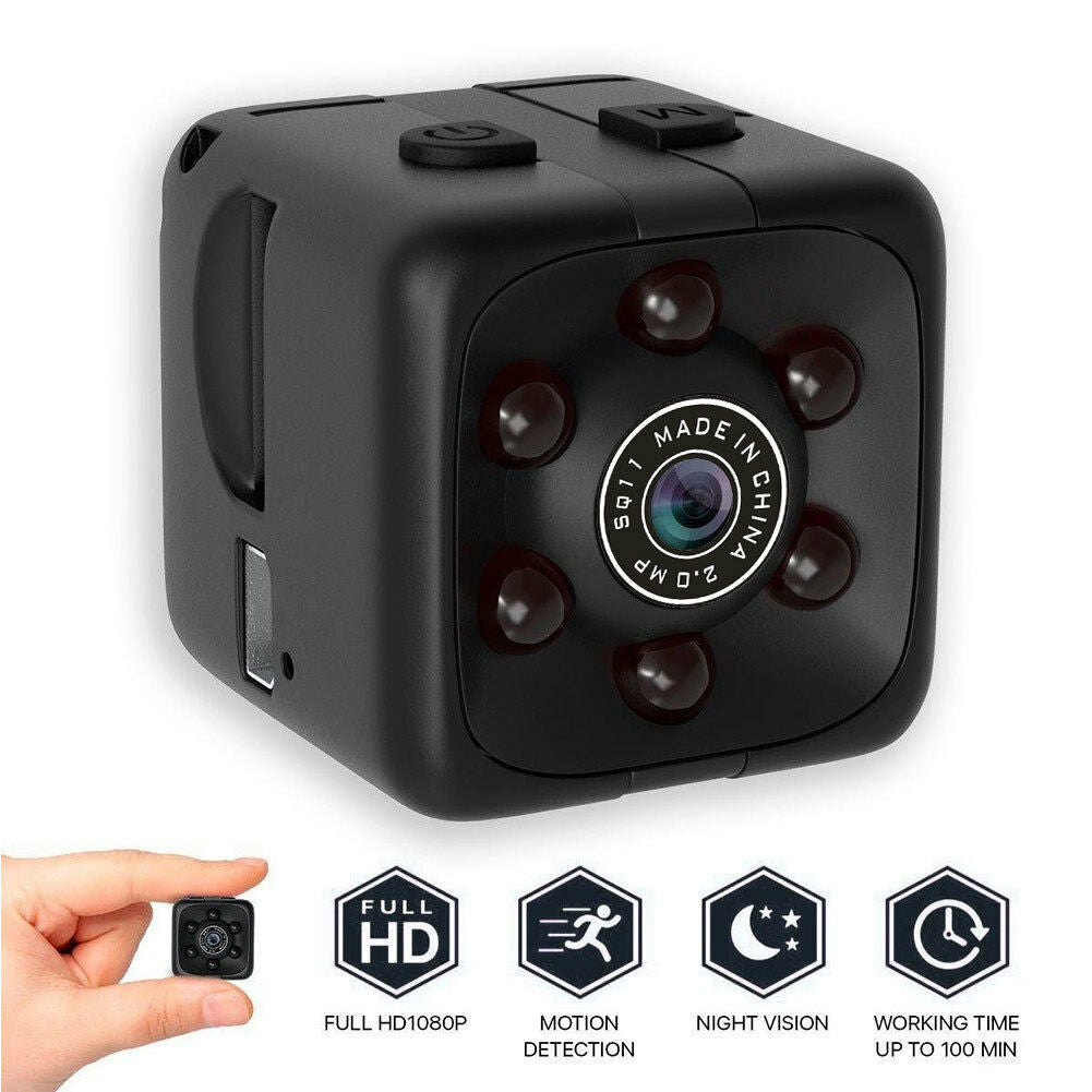 COP CAM Security Camera Video Motion Detection SQ11 Mini Cam Black