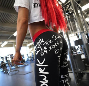 Womens AHH-MAZ-ING Printed Graphic Workout Leggings