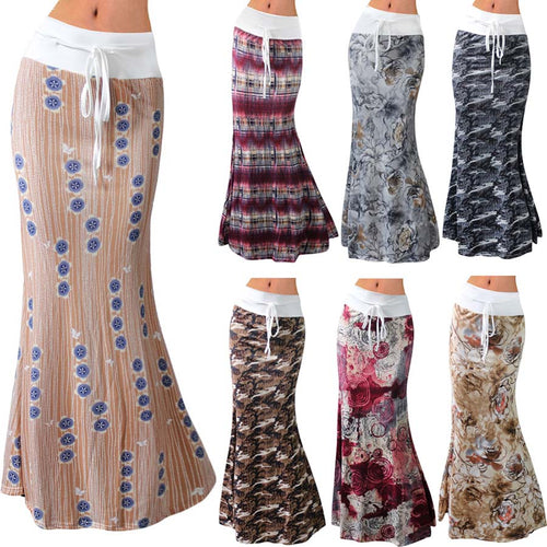 Womens Lovely Assorted Patterned Long Maxi Skirts