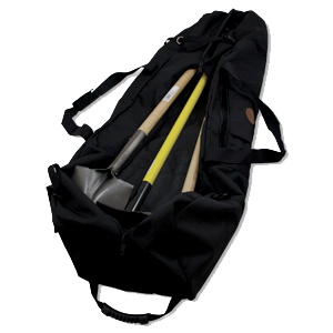 Wildland fire tool bag for shovels hoes pulaskis and fire line tools