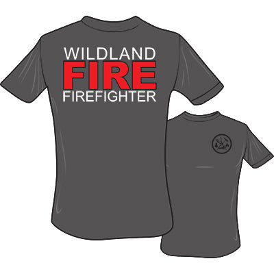Wildland FIRE Firefighter T-Shirt (Heather Grey), The Supply Cache