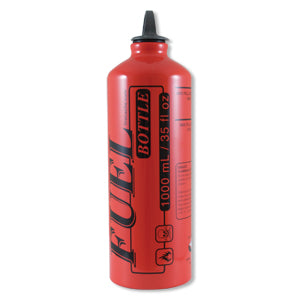 The Supply Cache's Aluminum Fuel Bottle- 1 liter, Vallfirest