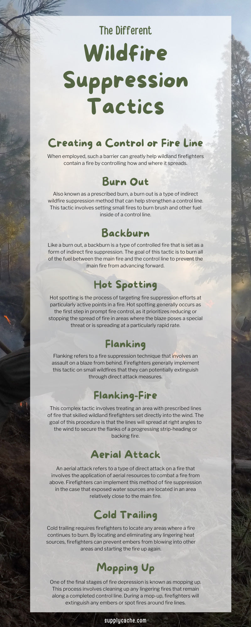 The Different Wildfire Suppression Tactics