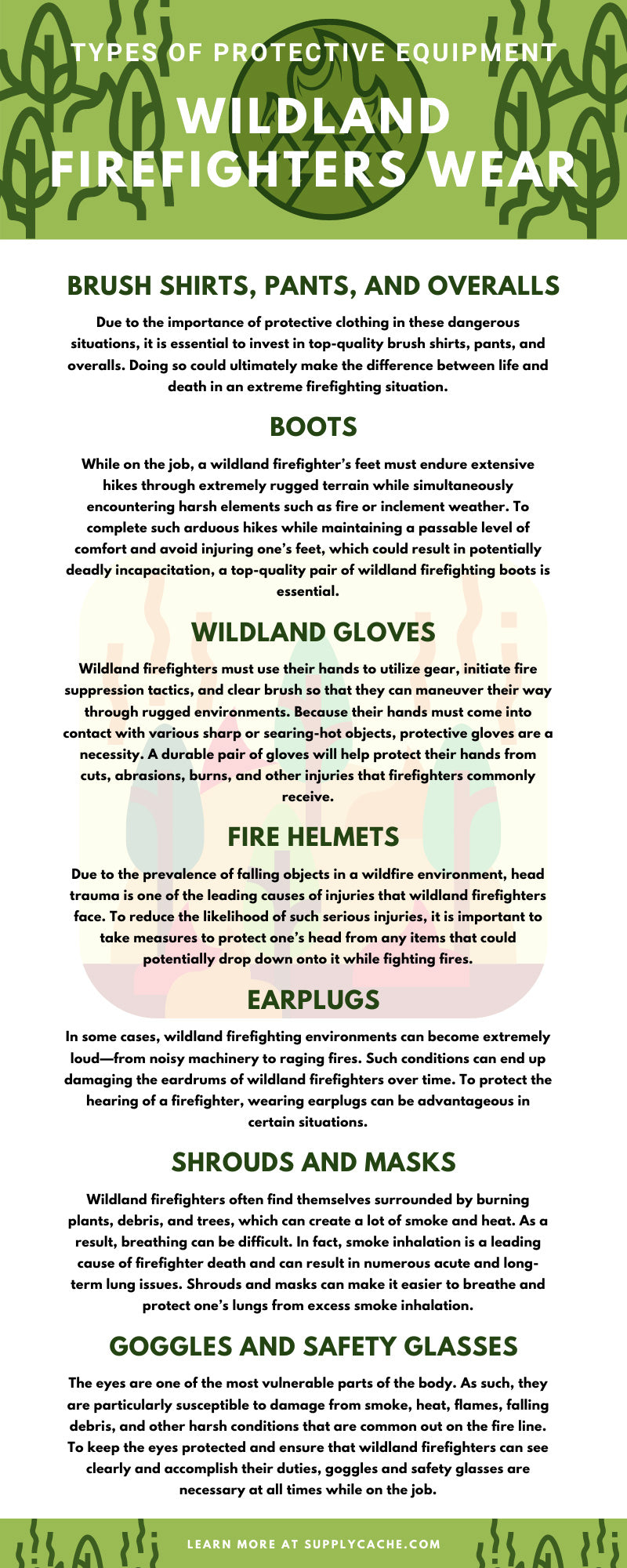 Types of Protective Equipment Wildland Firefighters Wear