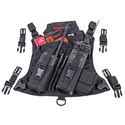 CrewBoss Dual Radio Chest Harness