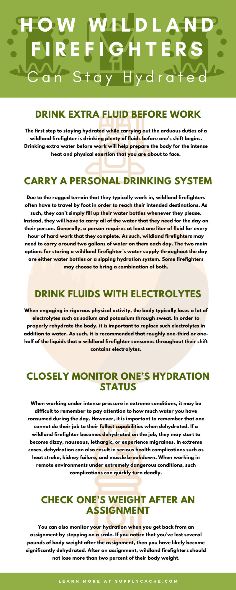 Firefighters Can Stay Hydrated