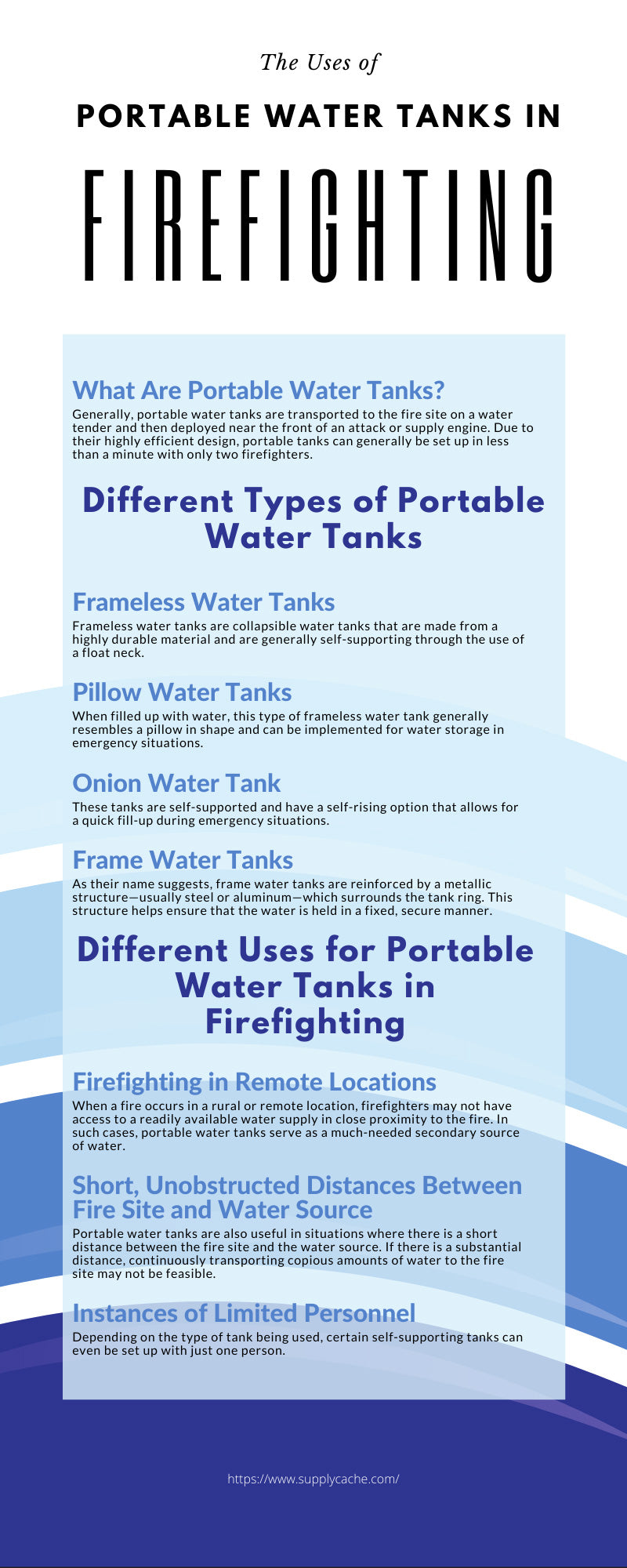 The Uses of Portable Water Tanks in Firefighting