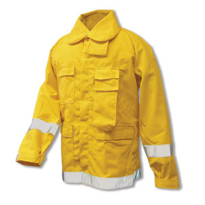 Nomex 6 oz Brush Coat  w/ 2 Trim (Yellow), CrewBoss