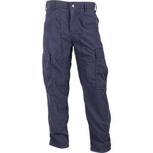 Front view of our navy dual-compliant pants for wildland firefighters.
