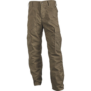 Front of the khaki Advance 7 oz Classic brush pants.